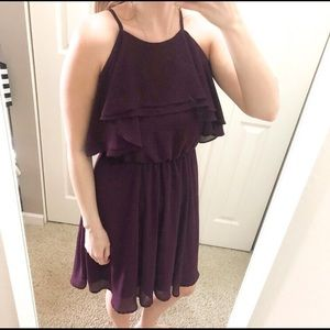 Eggplant colored chiffon dress